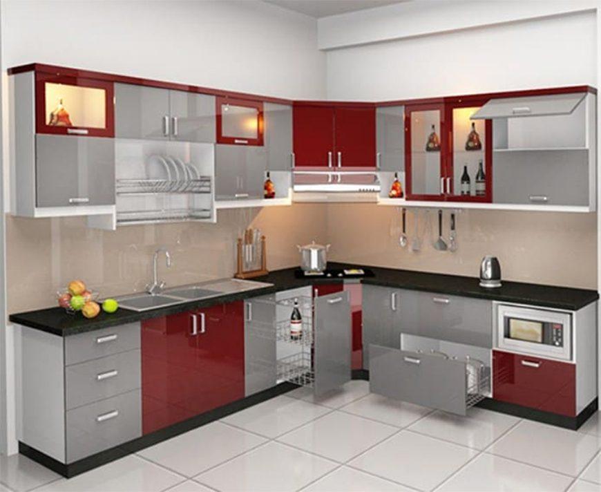 Tủ bếp thùng inox 304 chữ L