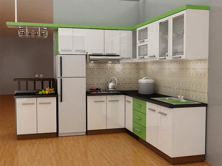 Mẫu 1 – Thiết kế nội thất tủ bếp chữ L