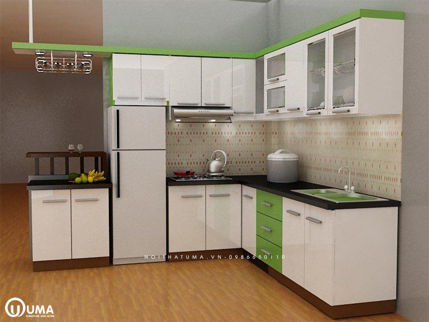 Mẫu 4 – Thiết kế nội thất tủ bếp chữ I