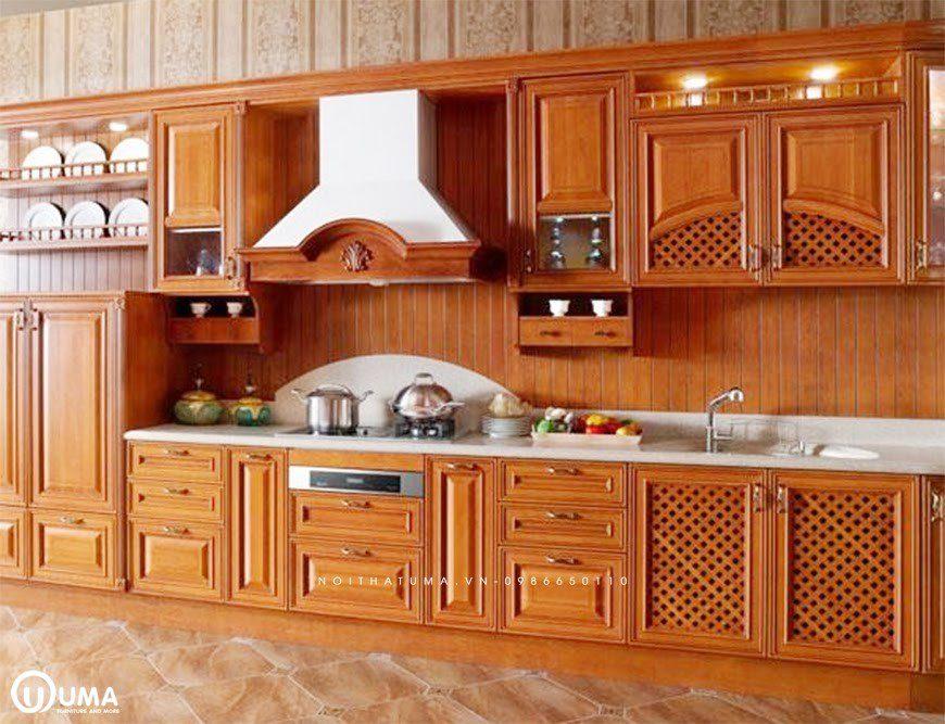 Phong cách thiết kế tủ bếp chữ I tân cổ điển