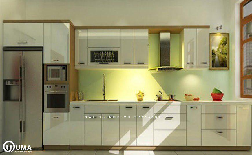 Phong cách thiết kế tủ bếp chữ I hiện đại