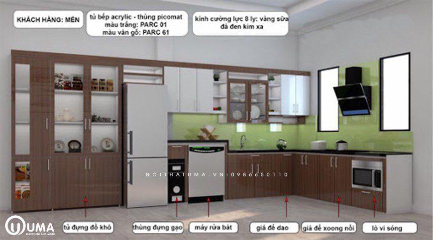 Phân chia khu vực trong bếp dễ dàng