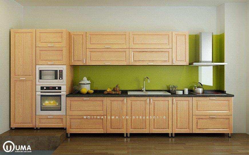 Mẫu 2 - Tủ bếp gỗ Sồi Nga Nam Phi