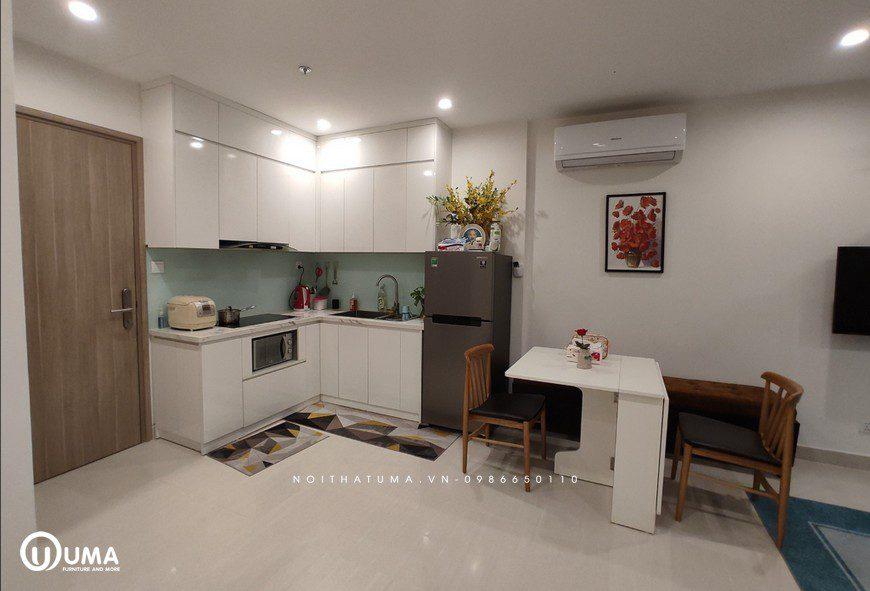 Hình ảnh công trình thực tế thi công tủ bếp tại UMA