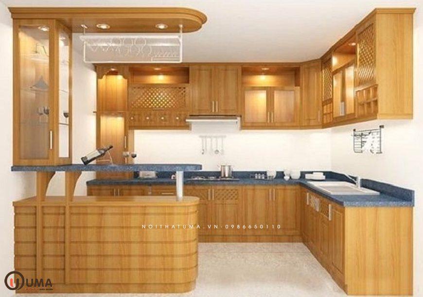 Mẫu tủ bếp gỗ công nghiệp hot nhất hiện nay