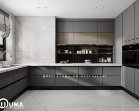 Tủ bếp Acrylic – UAC 41