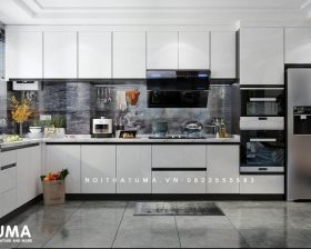 Tủ bếp Acrylic – UAC 42