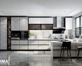 Tủ bếp Acrylic – UAC 44