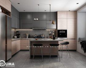 Tủ bếp Acrylic – UAC 45