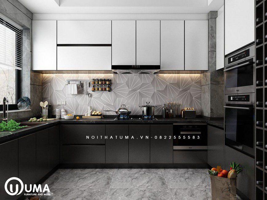 Tủ bếp Acrylic – UAC 46
