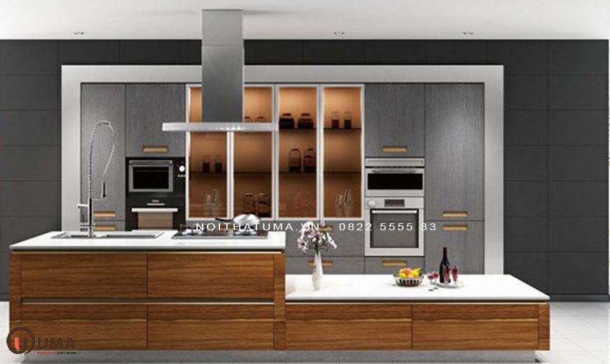 Mẫu 3 – Tủ bếp Melamine An Cường