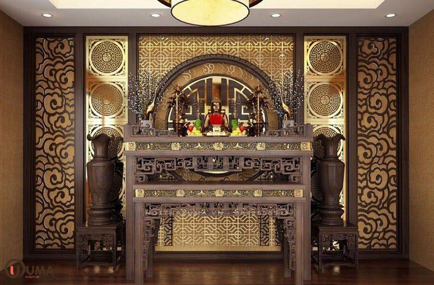 Mẫu phòng thờ cho căn hộ chung cư cổ điển