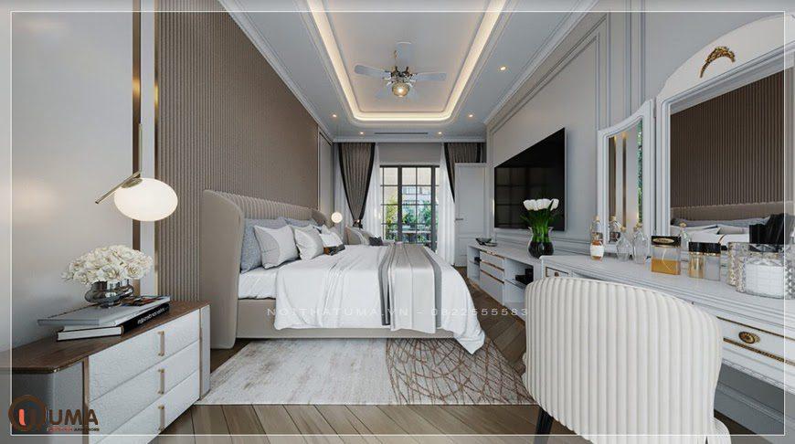 Mẫu nội thất phòng ngủ tân cổ điển