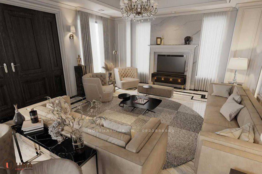 Mẫu nội thất chung cư mang phong cách Luxury