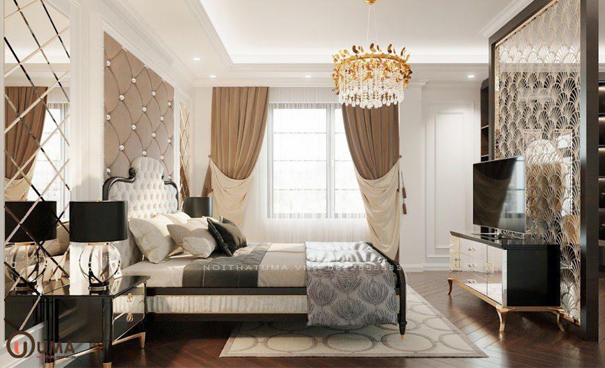 Mẫu phòng ngủ mang phong cách Luxury cho căn hộ chung cư