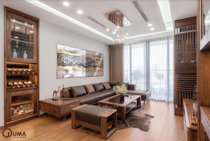 Mẫu nội thất phòng khách căn hộ chung cư hiện đại