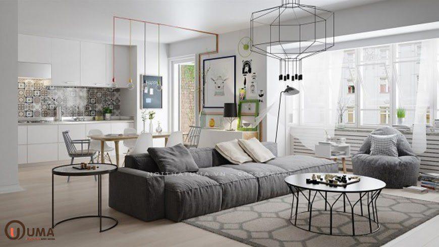 Mẫu thiết kế nội thất chung cư mang phong cách Scandinavian