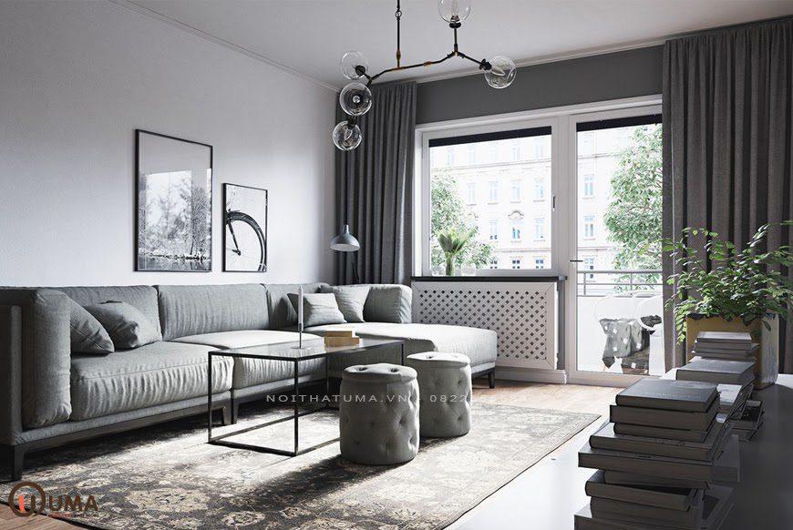 Mẫu thiết kế nội thất phong mang phong cách Scandinavian cho căn hộ chung cư