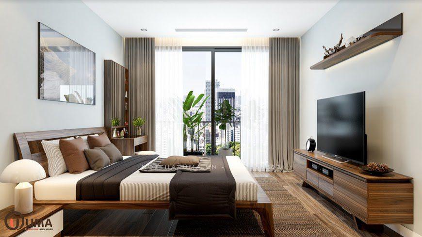Hình ảnh phòng ngủ cho căn hộ hiện đại