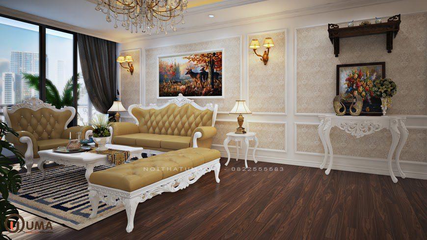 Mẫu nội thất căn hộ chung cư phong cách cổ điển