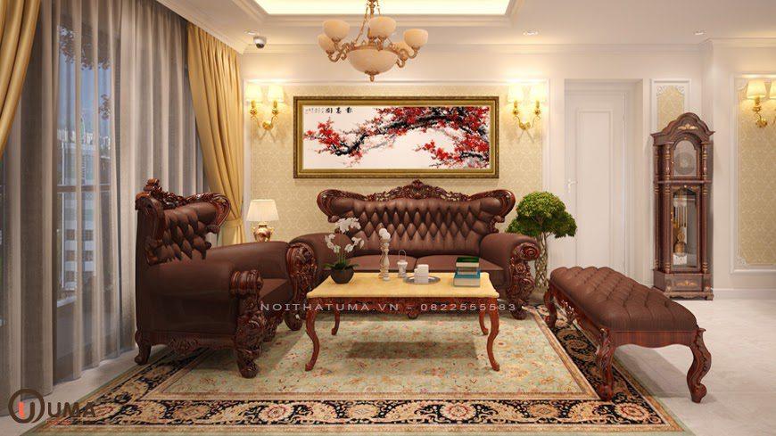 Mẫu phòng khách chung cư cổ điển