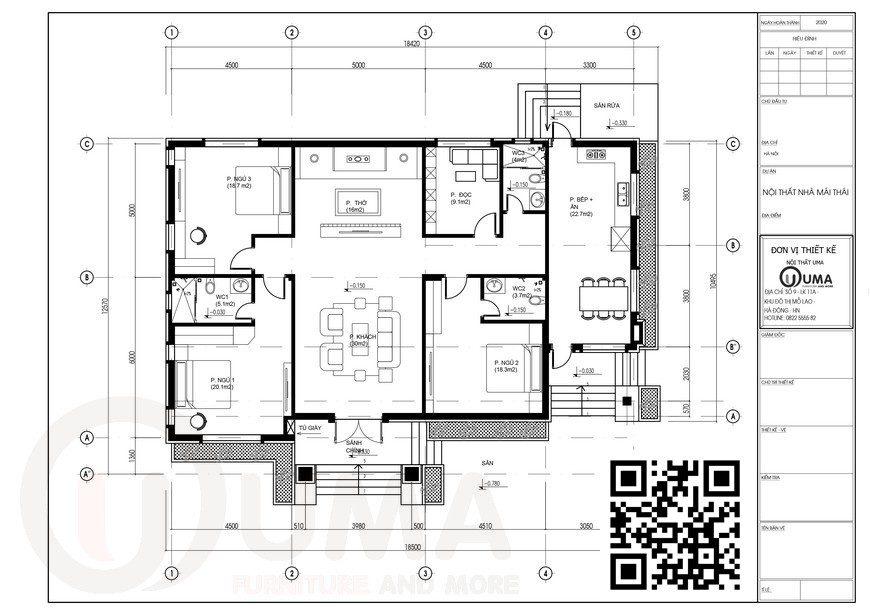 Mẫu nhà cấp 4 mái thái 1 tầng 10m x 18m 3 Phòng ngủ, 3 WC, Nhà cấp 4 mái thái 1 tầng 10m x 18m, , Nhà Cấp 4, Nhà cấp 4 mái thái