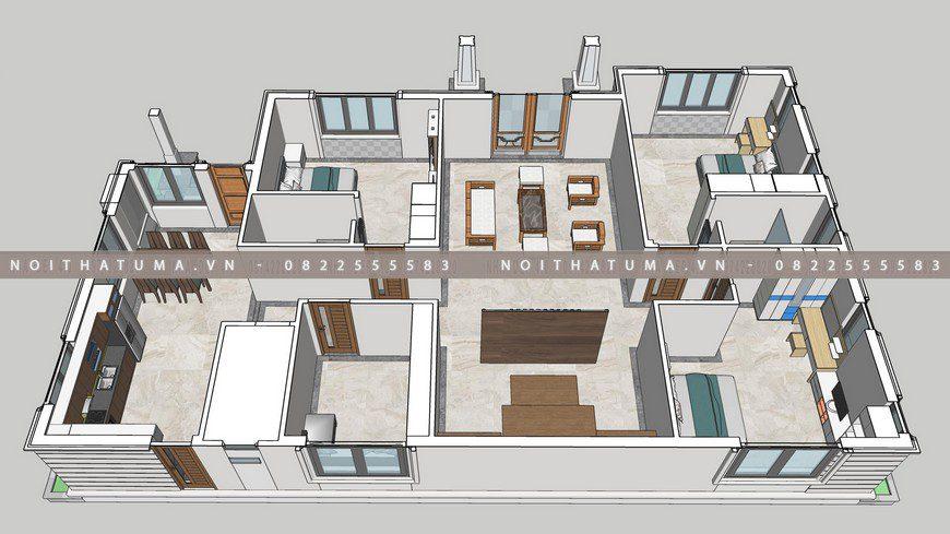 Hình ảnh bản vẽ thiết kế nội thất căn hộ