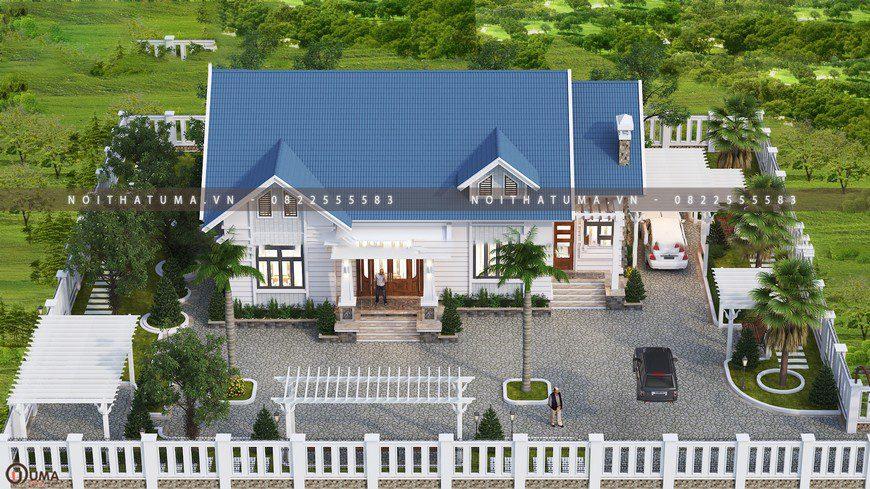 Hình ảnh tổng thể của một căn hộ mái thái nhà cấp 4