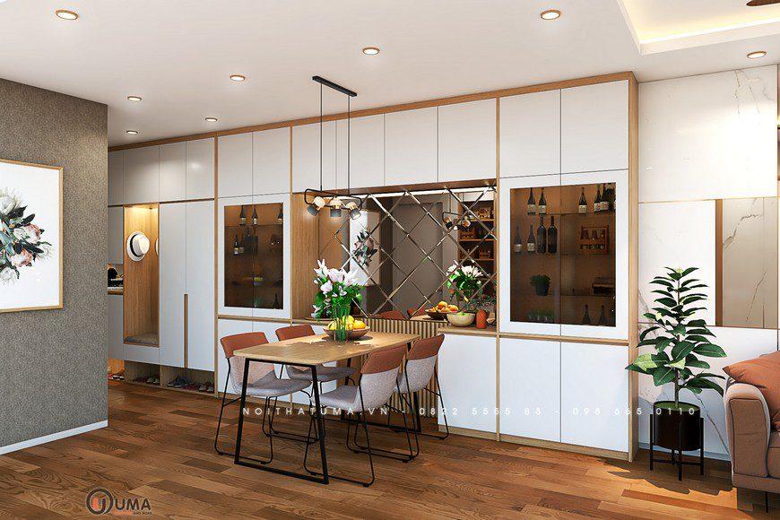 Thiết kế nội thất chung cư Vinhome Smart City 2 phòng ngủ nhà anh Chung, Thiết kế nội thất chung cư Vinhome Smart City 2 phòng ngủ, , Thiết Kế Nội thất Chung cư