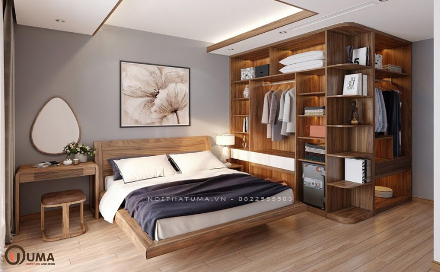 Mẫu phòng ngủ mang phong cách tối giản cho căn hộ chung cư