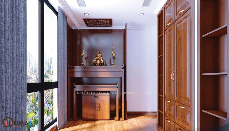 Mẫu phòng thờ mang phong cách tối giản cho chung cư