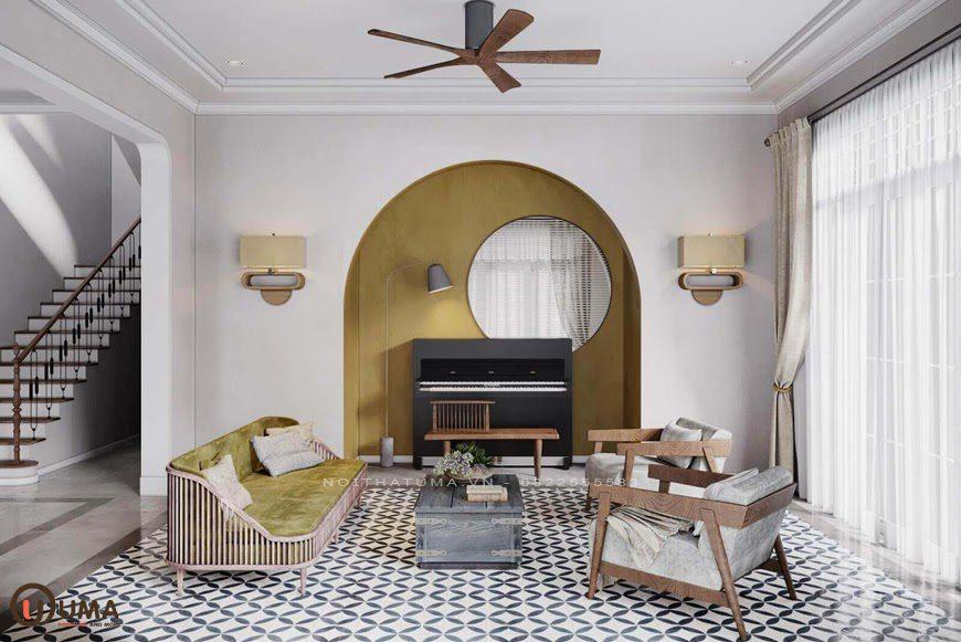 Mẫu thiết kế chung cư mang phong cách Đông Dương