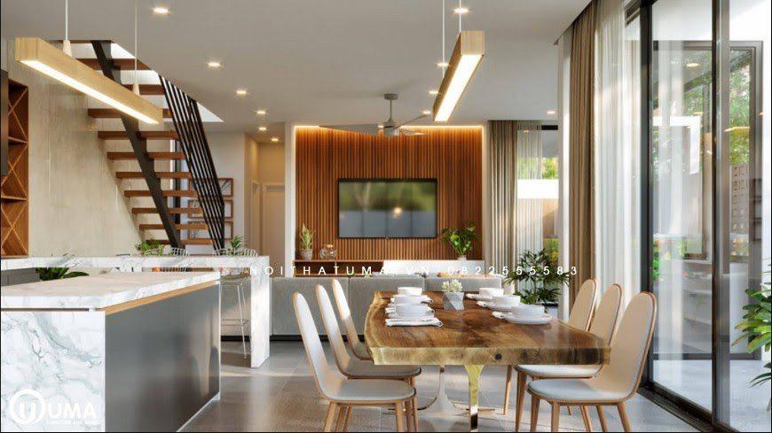 Không gian phòng bếp với phong cách đương đại