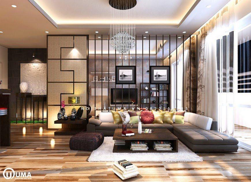 Phòng khách sử dụng lối thiết kế Hàn Quốc mới lạ