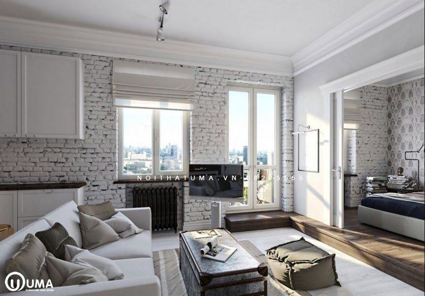 Phong cách Vintage được sử dụng thành công trong không gian phòng khách