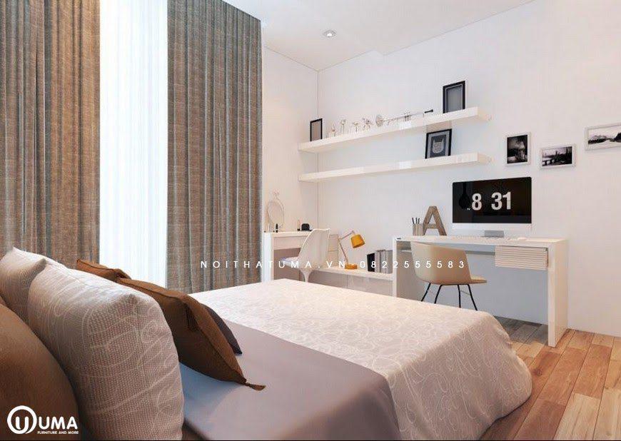 Phòng ngủ được thiết kế với phong cách Hàn Quốc