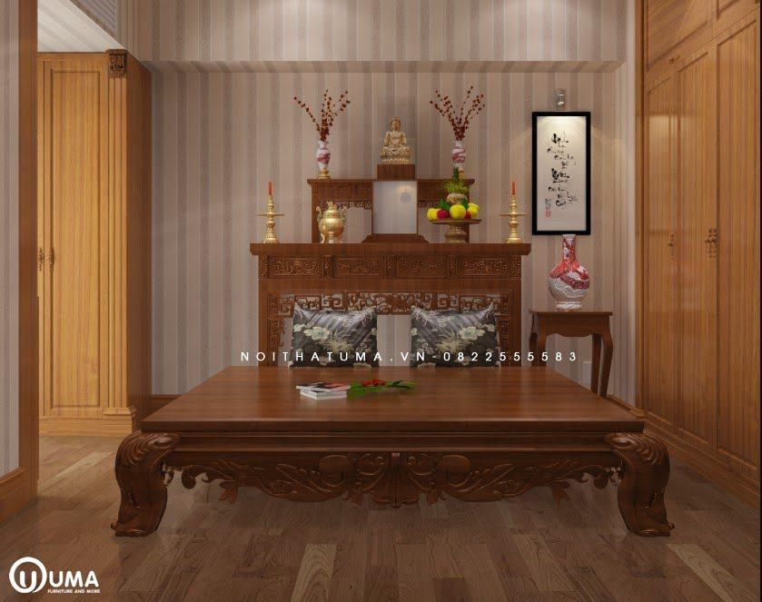 Mẫu phòng thờ được thiết kế theo phong cách Hàn Quốc
