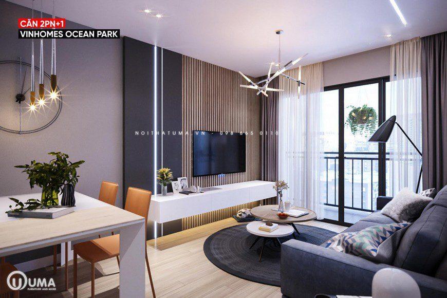 Nhìn tổng thể về không gian nội thất của căn hộ