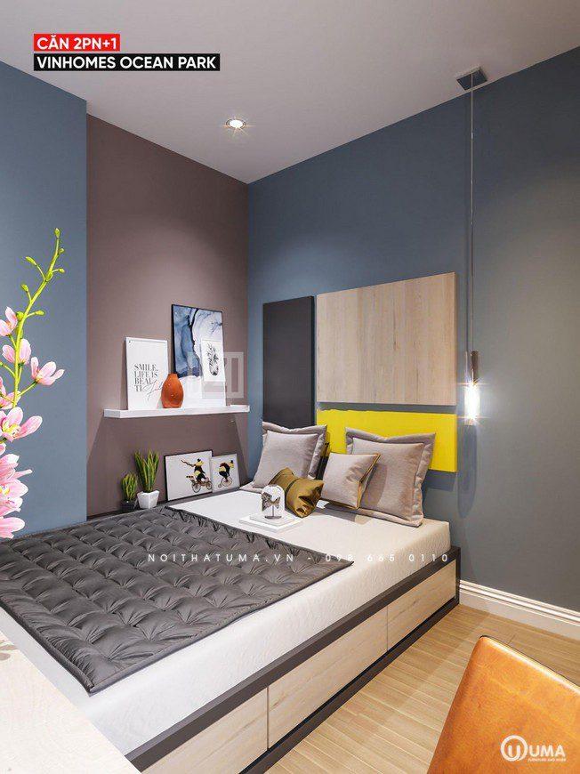 Chiếc giường hộp được lựa chọn cho không gian phòng ngủ nhỏ, khá nhỏ gọn.