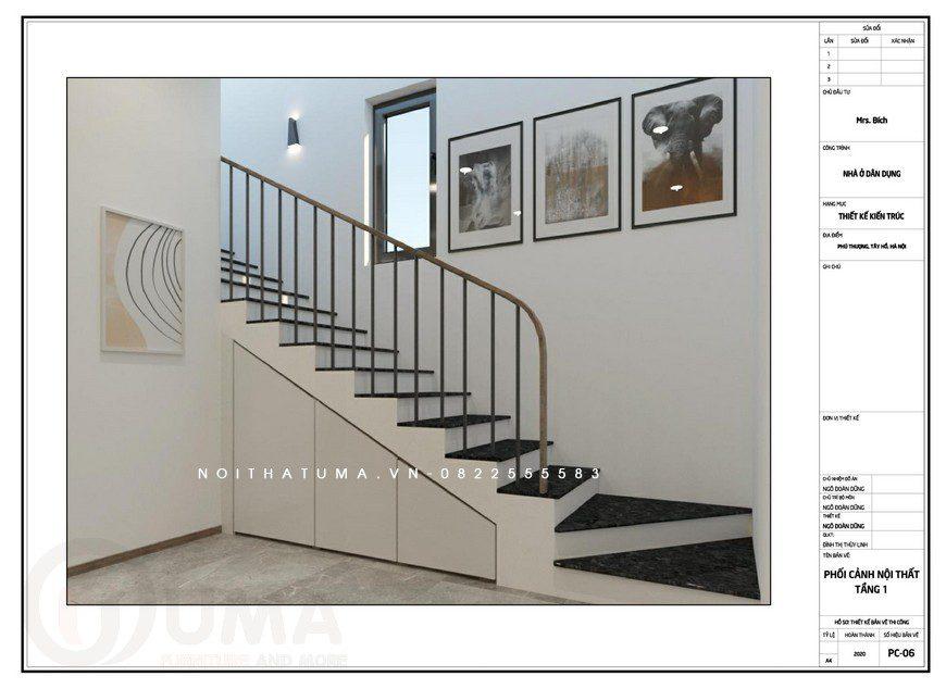 Thiết kế nội thất nhà phố tại An Dương, Tây Hồ, Thiết kế nội thất nhà phố tại tây hồ, Phong cách tối giản, Thiết Kế Nội thất Nhà phố, Thiết kế nội thất