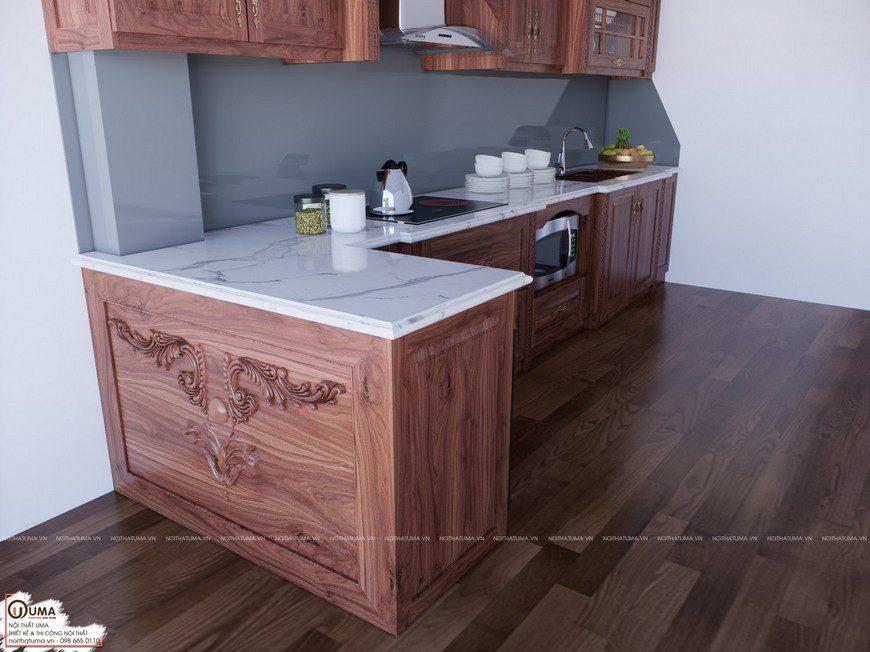 mặt đá bếp tủ bếp