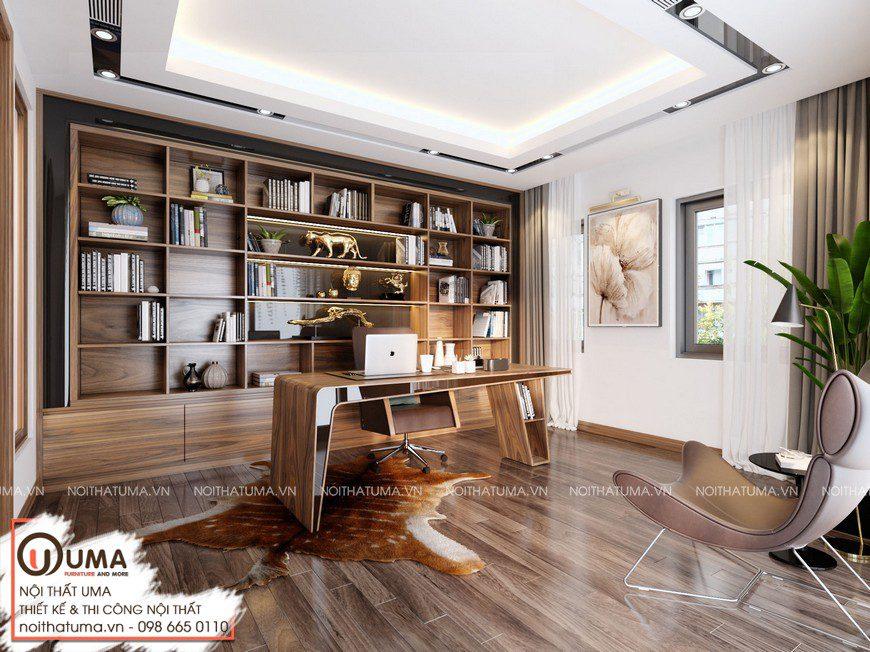Thiết kế nội thất nhà mặt phố Chị Huyền- Hải Phòng, , Gỗ óc chó, Thiết Kế Nội thất Nhà phố