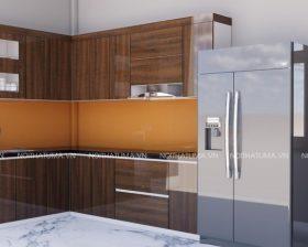Thiết kế tủ bếp Acrylic An Cường Chị Huyền Hải Dương