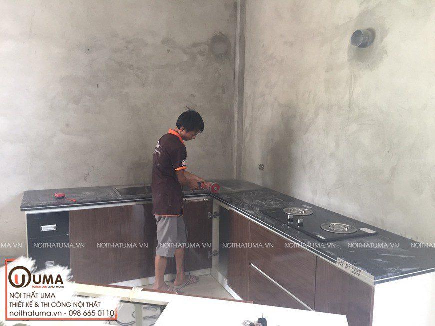 Tủ bếp Melamin An Cường Chị Huyền Hải Dương