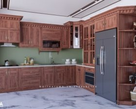 Tủ bếp gỗ Gõ đỏ – UGG 09