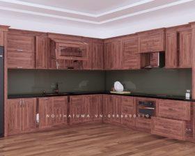 Tủ bếp gỗ Gõ đỏ – UGG 10