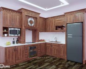 Tủ bếp gỗ Gõ Đỏ - UGG 02