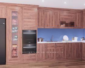 Tủ bếp gỗ Gõ Đỏ - UGG 03