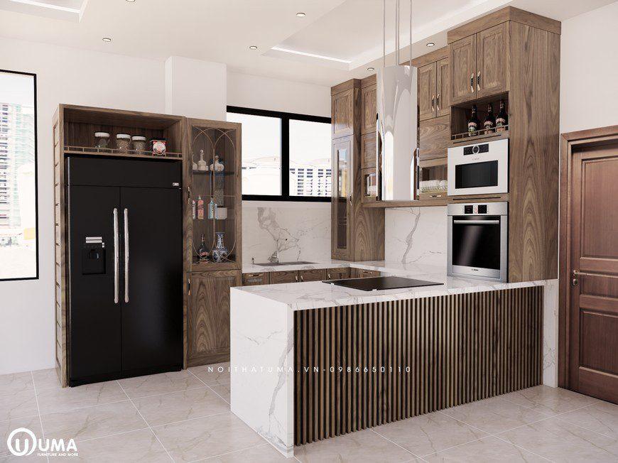 Tủ bếp gỗ Sồi Mỹ - USM 02, tủ bếp gỗ Sồi Mỹ, ,