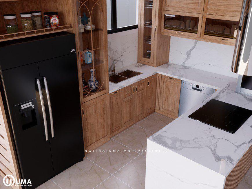 Tủ bếp gỗ Sồi Mỹ - USM 24, tủ bếp gỗ Sồi Mỹ, ,